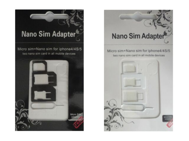 Universal Mobile Phone Tablet SIM Card Adapter Nano Micro Needle Mini Reader Z12