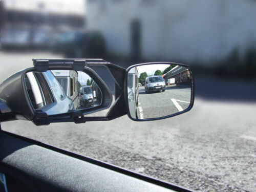 Trailer /& Towing Convex Glass Safety Wing Mirror Extension Car E Marked Caravan