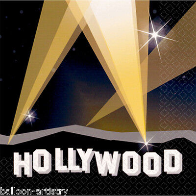 16 Hollywood Sign Lights Disposable Paper Party Napkins Serviettes