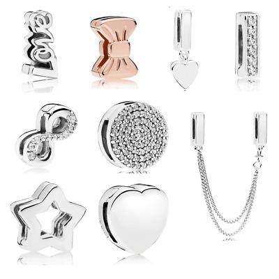 925 Silver Reflections European Clip Charms Compatible Reflexions mesh  bracelets | eBay