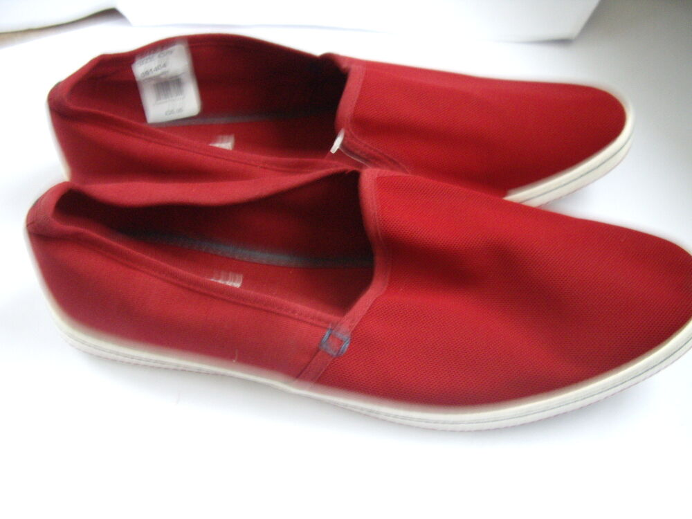Burton Menswear Bourgogne Rouge Slip On Plimsoles Chaussures Uk 9 Eu 43
