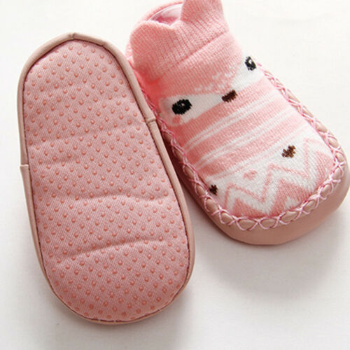 Newborn Toddler Infant Baby Crib Shoes Girls Boys Anti-slip Cotton Socks Boots P