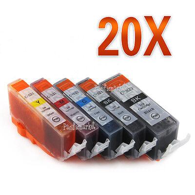 20x Ink PGI-520 CLI-521 for CANON MP540 MP550 MP560 MP630 MP640 MX870 MP980