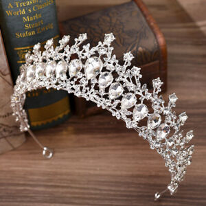 Bridal-Bride-Rhinestone-Pearl-Crystal-Hair-Tiara-Wedding-Party-Crown-HeadbandXL