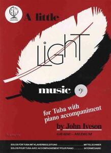 A Little Light Music For Tuba Bass Clef Partitions Livre Piano Same Day Dispatch-afficher Le Titre D'origine TrèS Poli