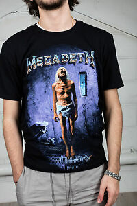 Official-Megadeth-Countdown-To-Extinction-Unisex-T-Shirt-Skull-Peace-Sells-Rock