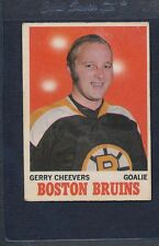 1970/71 OPC O-Pee-Chee #001 Gerry Cheevers Bruins VG *1