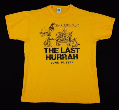 Vtg 1984 The Last Hurrah T-Shirt Medium edwin o'co