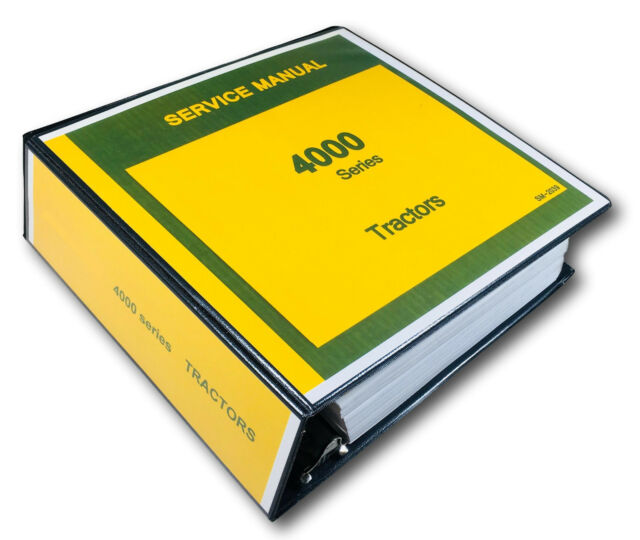 TECHNICAL SERVICE MANUAL JOHN DEERE 4000 4010 4020 TRACTOR REPAIR SM 2039
