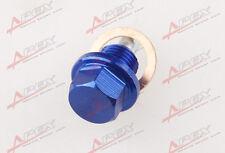 """M12 x 1.25"""" Magnetische Ölablassschraube Für Honda Mazda Mitsubishi Ford Blau"""