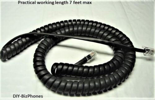 Charcoal Black 12ft Polycom VVX Series Handset Cord IP Phone VVX411 VVX500 Coil