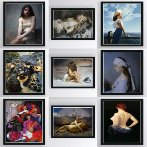 Lady Girl Canvas Oil Painting Poster Print Picture Art Wall Hanging Decor