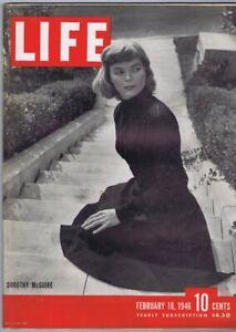 ORIGINAL Vintage February 18 1946 Life Magazine Dorothy McGuire