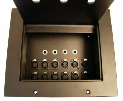 """HD Plus Recessed Floor Box 12 In x 4-1//4/"""" Out Black"""
