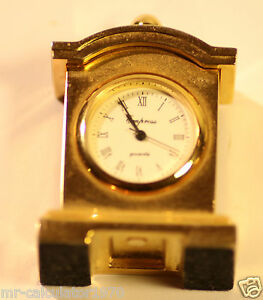 Miniature-Novelty-Carriage-Quartz-Clock-Empress-Gold-plated