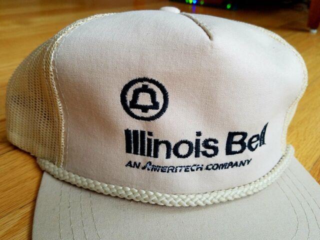 VTG Illinois Bell 80s Trucker Hat Cap Snapback MESH Made in the USA