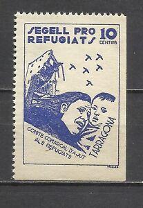 499-SELLO-LOCAL-KRIEG-ZIVIL-HOCH-VALOR-TARRAGONA-REFUGEE-COMMITTEE-REFUGIATS