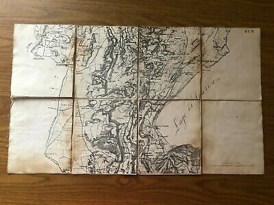 Cartina Topografica Lago Di Garda.Antica Cartina Geografica Carta Topografica Lago Di Garda Padenghe Carzago Ebay