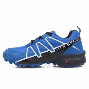 NEW-BLUE-Men-039-s-Hiking-Shoes-Outdoor-Trekking-Sneaker-Sports-Speedcross4-Running