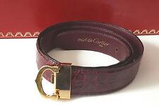 Cartier cinturón C-Decor Strap Belt ceintiure cocodrilo más de lo Cuero Oro-finish Leather