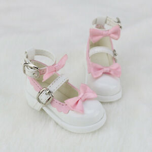Pink High Heels Shoes For 1//3 BJD Shoes Supper Dollfie Bow Dod Luts AOD DZ SOOM