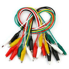 10 X 55cm Cable Alambre con Pinza Clip Cocodrilo Cinco Colores de Buena Venta