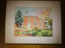 Alice Steer Wilson Original Painting Aunt Charlotte's,Merchantville, Nj Cape May