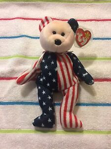 """Mint; *RARE WITH ERRORS/"""" *RARE* Original Ty Beanie Baby """"Spangle"""" Pink Face"""
