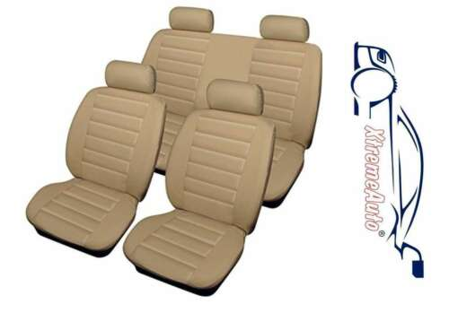 Aveo S Bloomsbury Beige Leather Look 8 PCE Car Seat Covers For Chevrolet Alero
