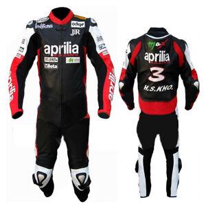 APRILIA-Biker-Cuir-Costume-Costume-de-motard-en-cuir-Moto-Cuir-Veste-Pantalon