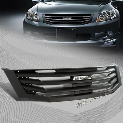 For 2008-2010 Honda Accord Sedan 4 Door Black Vertical Bumper Front Grille Gril