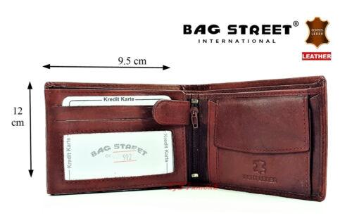 Men/'s Wallet Bag Street Bagstreet Men/'s Purse Soft Real Leather 992C