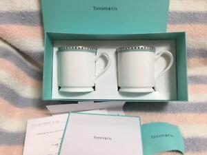 Tiffany-amp-Co-Pair-Mug-Cup-Platinum-Blue-Band-Bone-China