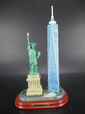 FleißIg New York Freedom Tower,freiheitsstatue 24 Cm ! Modell Auf Holz Base,souvenir Ny Um Eine Reibungslose üBertragung Zu GewäHrleisten
