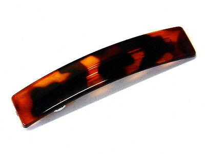 black Curved Sprung Barrette Hair Clip Slide Oval Rectangle  Curved 10cm