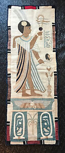 Modeste Hanging Antique Applique Quilt Egyptian Khayamyah Tapestry Panel 1920