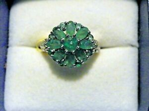 Kagem-Zambian-Emerald-Diamond-Platinum-Over-Sterling-Silver-Ring-Size-6-0