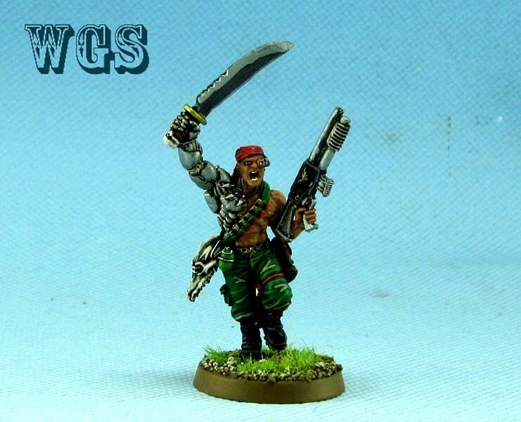 25mm Warhammer 40K WGS Painted Captain Al'Rahem IG010