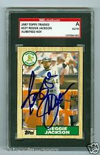 Reggie Jackson Autographed 1987 Topps Traded Card 52T A's SGC Authentic Encased
