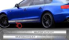 2x 180cm Wunschtext Seitenaufkleber Autoaufkleber Seitenstreifen Aufkleber #43