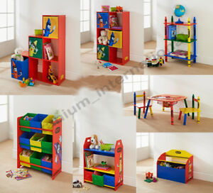Image is loading Crayola-Wooden-Childrens-Kids-Bench-Shelves-Storage-Units- & Crayola Wooden Childrens Kids Bench / Shelves Storage Units Bedroom ...