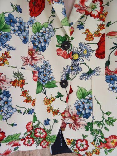 S Uk Size 8 Print Floral Jacket Zara Ecru Stunning 4qFzgY