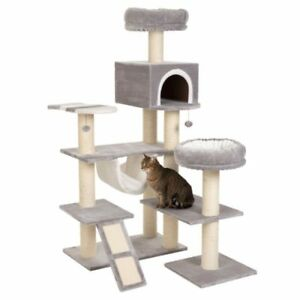 XXL-Cat-Tree-Tower-Den-Ladder-Tall-House-Hammock-Beds-Scratching-Post-Large-Cats