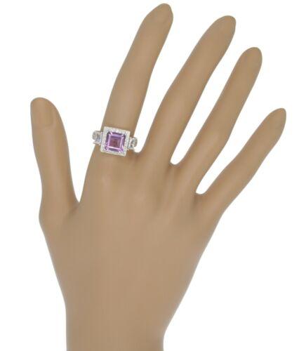 Amethyst Gemstone Square Sterling Silver 925 Ring