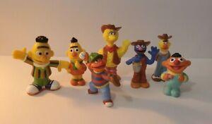 3 JHP Sesame Street Figures plus 4 Other Figures. Grover, Big Bird, Bert & Ernie