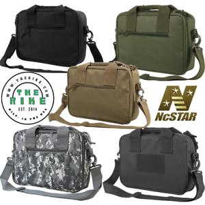 VISM Padded Double Pistol Range Bag Mag Pouches Shoulder Strap Bag Multicolor