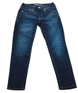 d182a17eb37 Image is loading American-Eagle-Stretch-Womens-Tomgirl-Button-Fly-Jeans-
