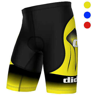 Mens Cycling Triathlon Shorts 3D Padded Quick Dry Pants Bike Bicycle Liner Underwear MTB Wear Tights UPF 50+