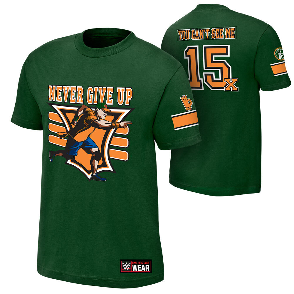 Official WWE - John Cena  15x Green  Authentic T-Shirt