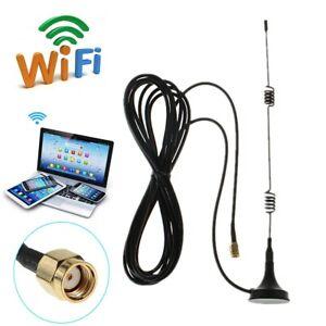 RP-SMA 2.4GHz 7 Dbi Wifi sans Fil WLAN 5 X Gamme Booster Antenne Extendeur +